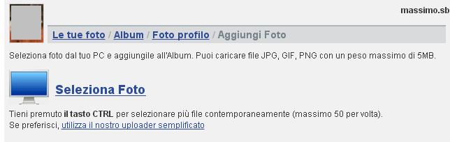 come creare album di foto in Libero Community