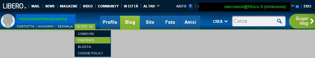 la barra di navigazione (o toolbar)